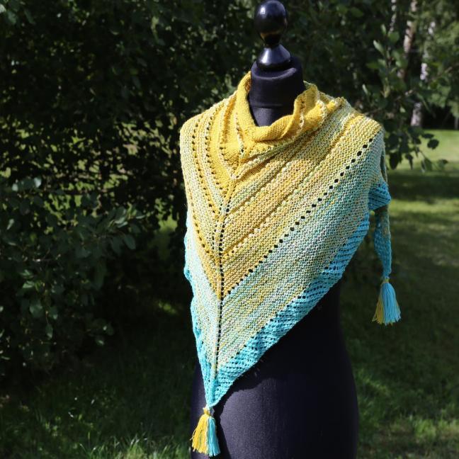 Karen Noe Design Garnpaket Tuch Sommerhimmel