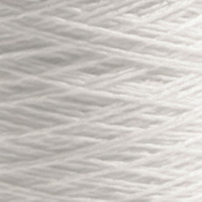 BC Garn Luxor mercerized Cotton 8/2 200g Kone reinweiß
