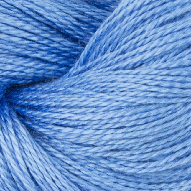 BC Garn Jaipur Silk Fino auf 50g-Kone Azurblau