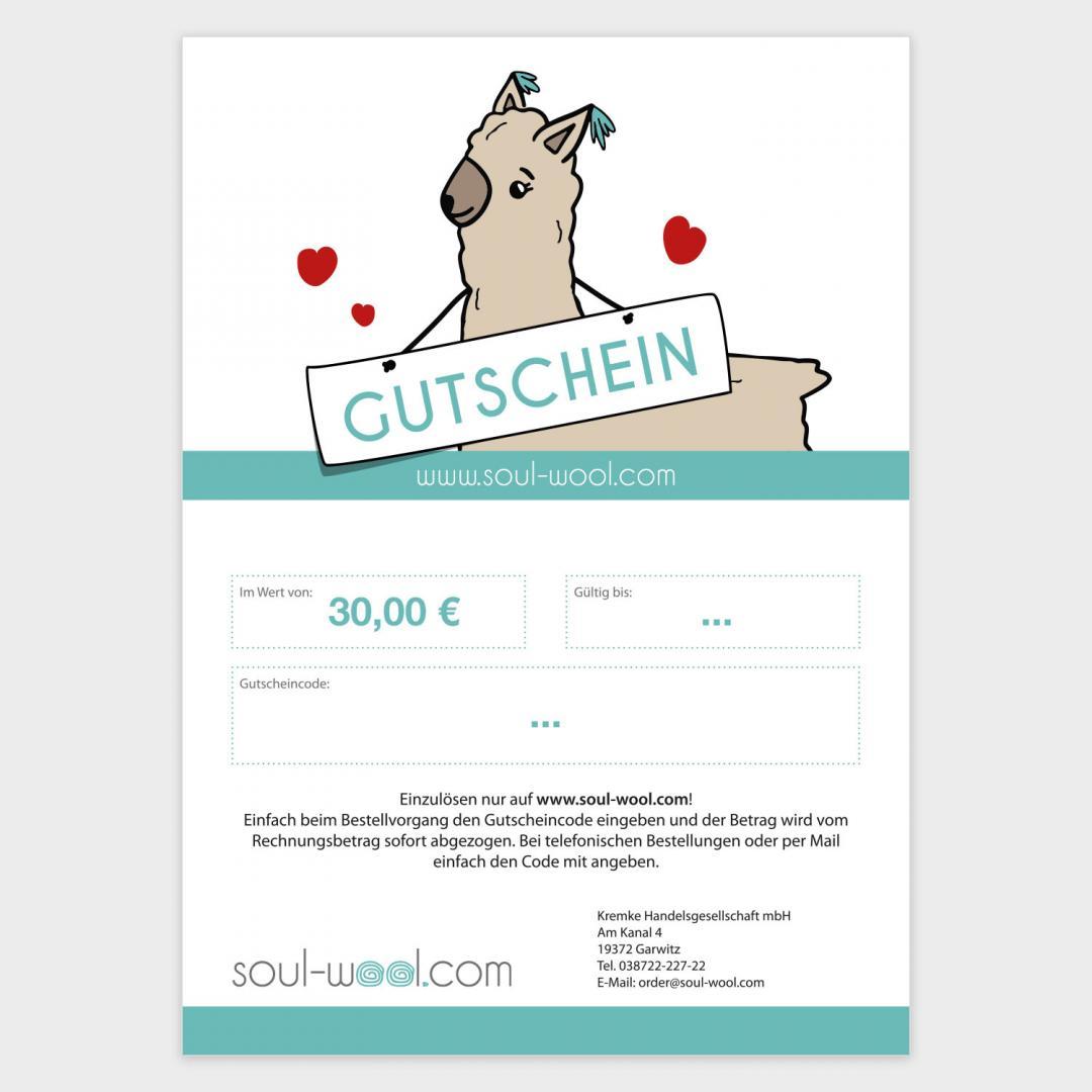 Kremke Geschenkgutschein-30  per E-Mail