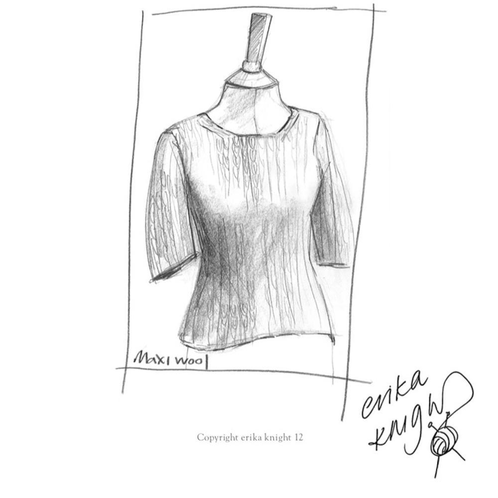 Erika Knight Gedruckte Anleitungen Maxi Wool Simple Short Sleeve Sweater Englisch
