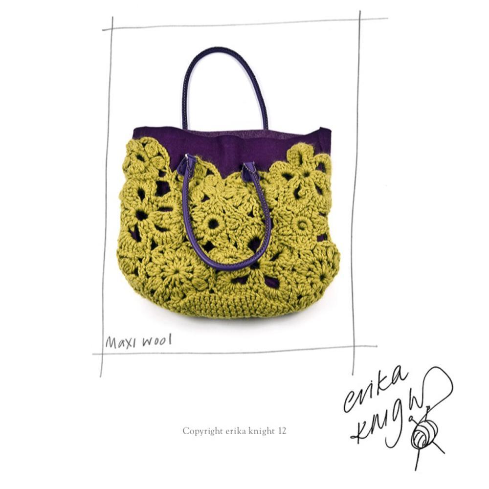 Erika Knight Gedruckte Anleitungen Maxi Wool Crochet Lace Bag Englisch