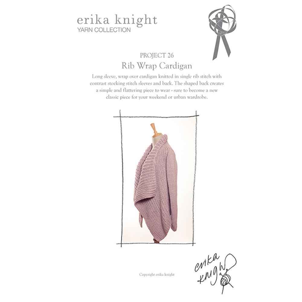 Erika Knight Gedruckte Anleitungen Maxi Wool 26 Rib Wrap Cardigan English