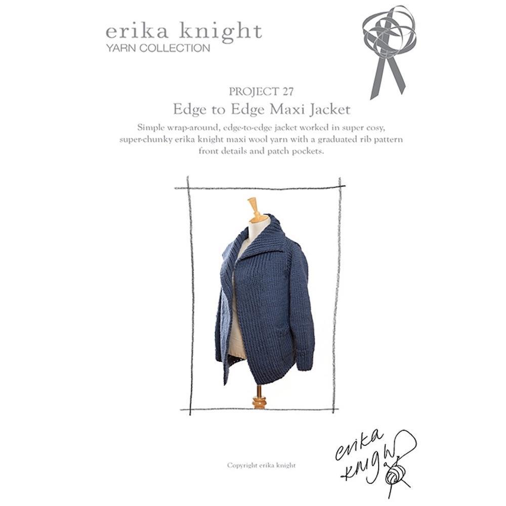Erika Knight Gedruckte Anleitungen Maxi Wool 27 Edge to Edge Cardi ENG