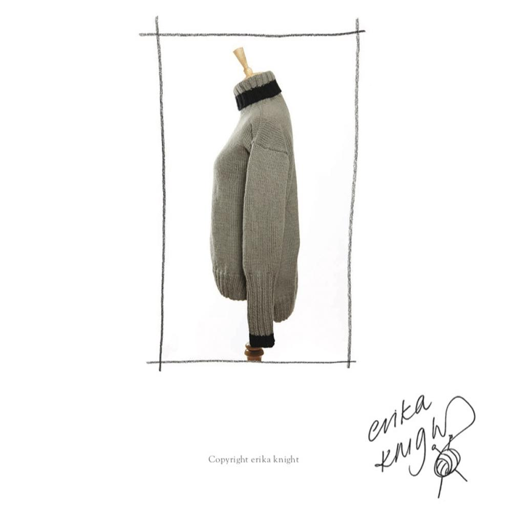 Erika Knight Gedruckte Anleitungen Maxi Wool 29 Classic Roll Neck Sweater