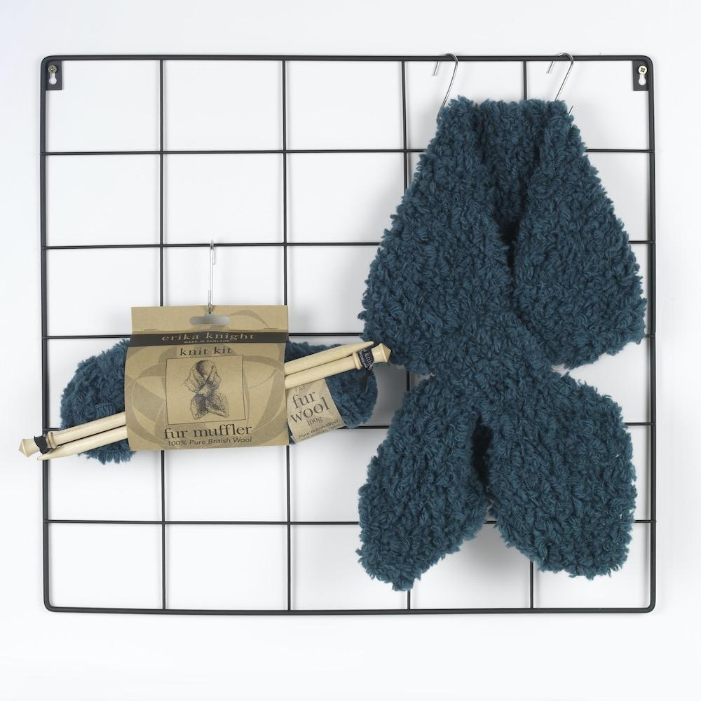 Erika Knight Gedruckte Anleitungen Vintage Wool und Fur Wool 1 Fur Muffler ENG Fur Wool