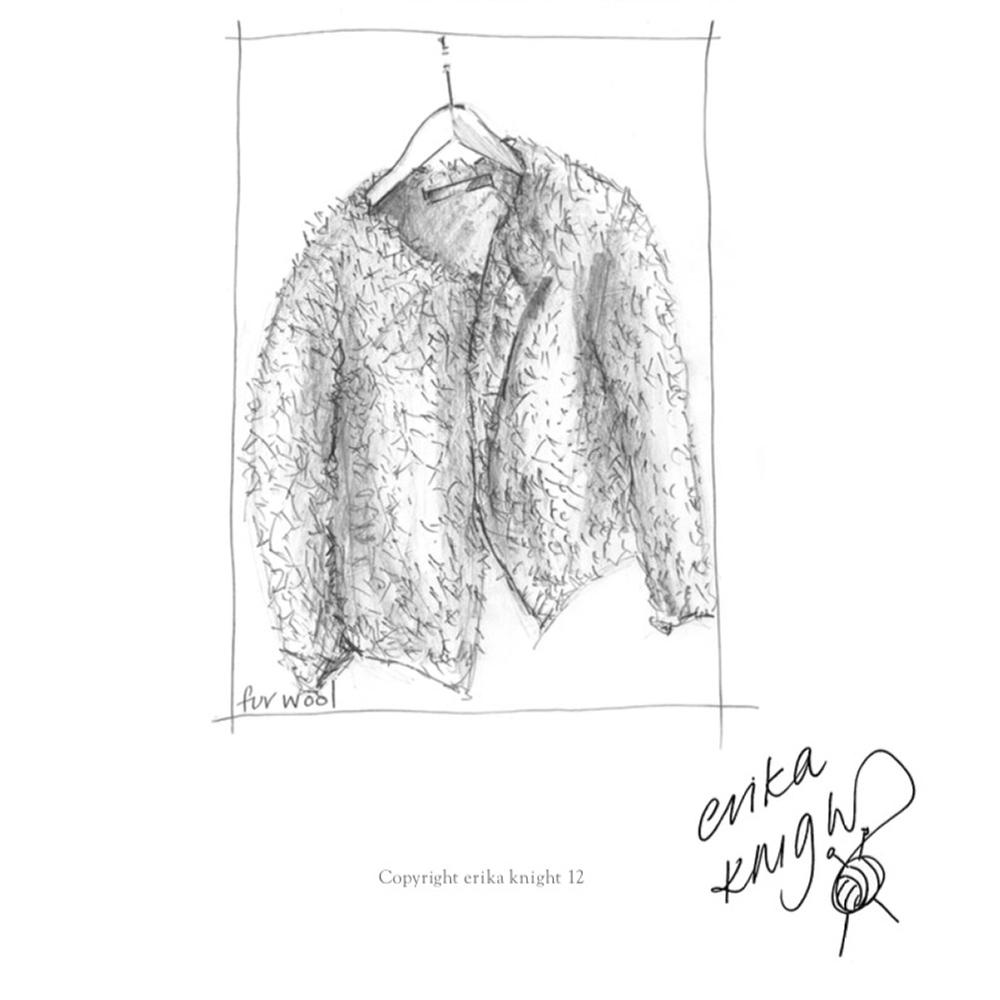 Erika Knight Gedruckte Anleitungen Vintage Wool und Fur Wool Fur Jacket Englisch Fur Wool