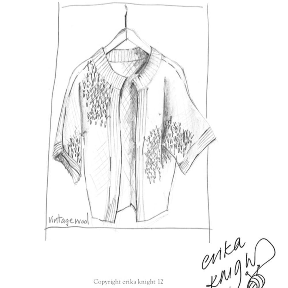 Erika Knight Gedruckte Anleitungen Vintage Wool und Fur Wool Edge-to-Edge Stitch Cardigan Englisch Vintage Wool