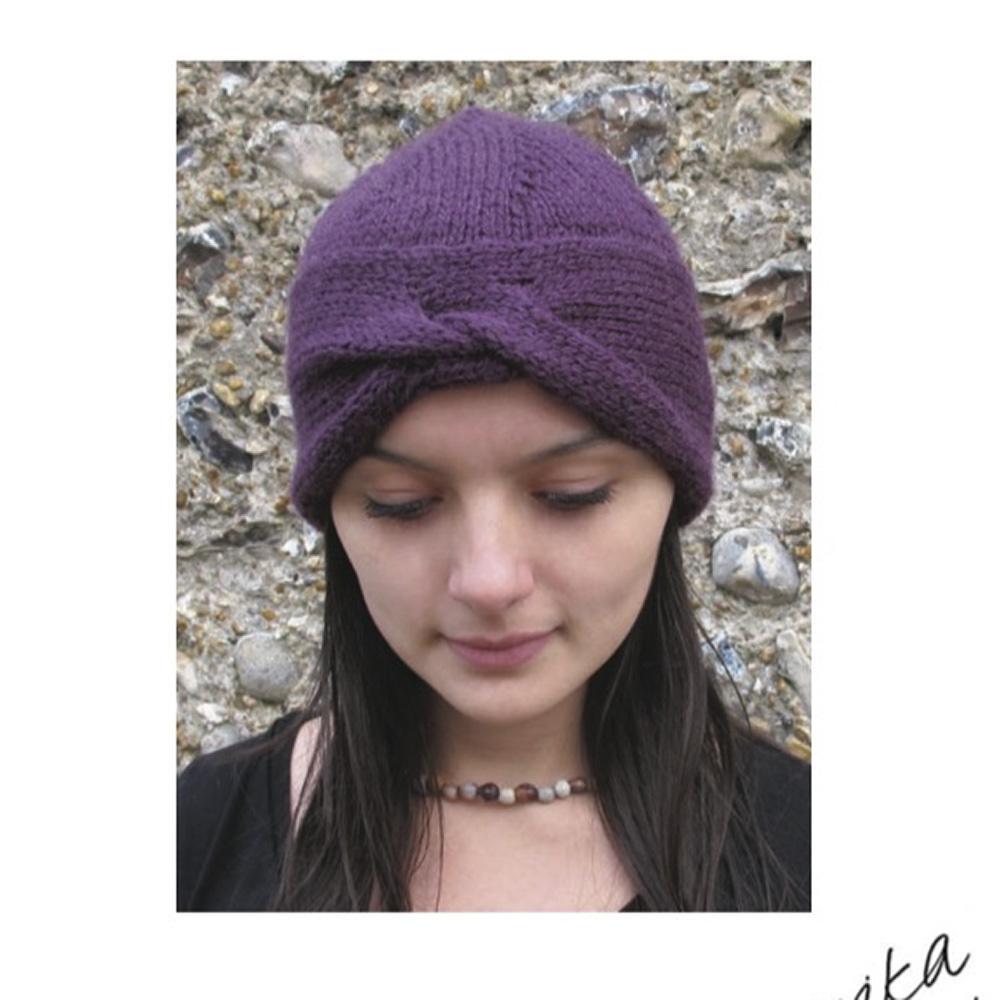 Erika Knight Gedruckte Anleitungen Vintage Wool und Fur Wool Urban Turban Englisch Vintage Wool