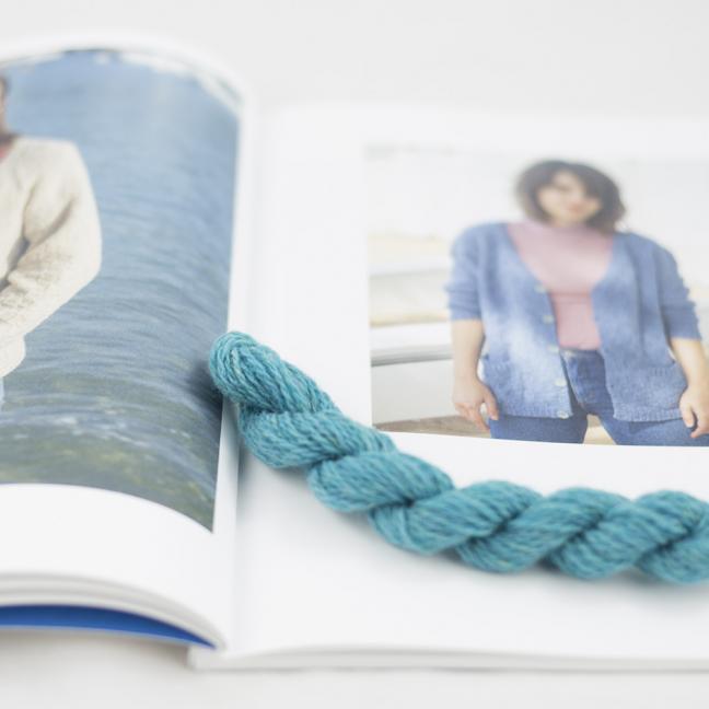 BC Garn AH Kit Kent Cardigan size 2-3 Turquoise