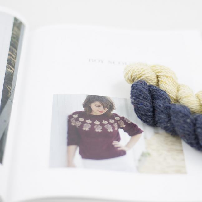 BC Garn AH Kit Boy Scout Sweater Size 2L Denim