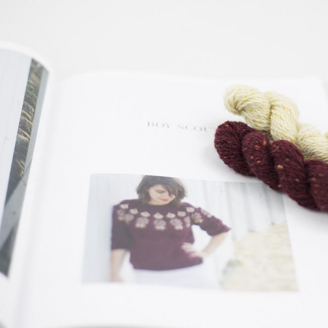 BC Garn AH Kit Boy Scout Sweater Size 2L Bordeaux