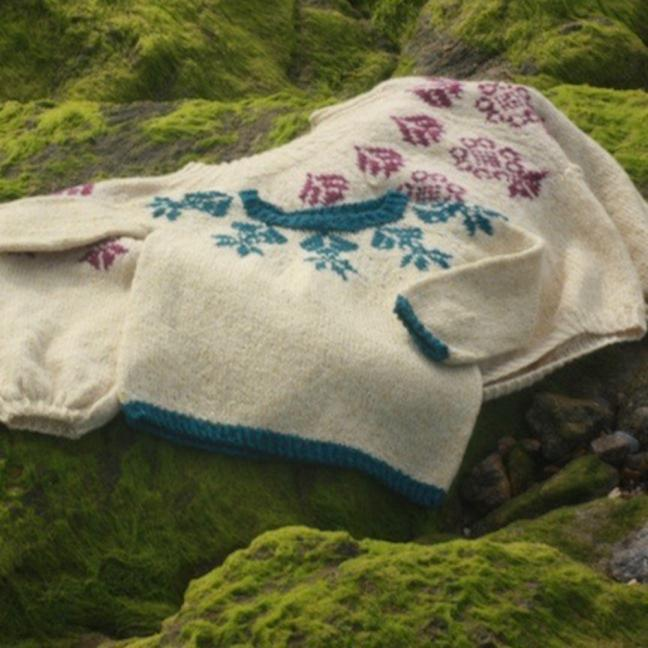 BC Garn AH Kit Petit Boy Scout Sweater Size 8-10 years  Beige
