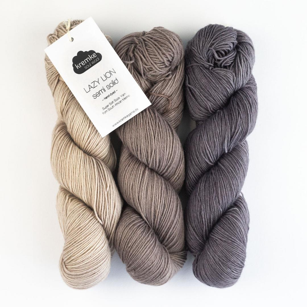 Kremke Soul Wool Lazy Lion Sock Yarn semi solid