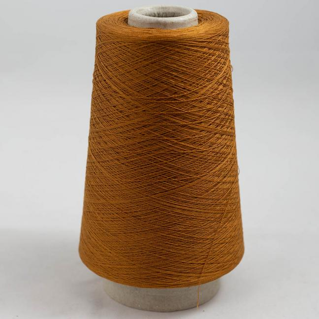 BC Garn Luxor Fino mercerized Cotton 30/2 200g Kone Orangebraun