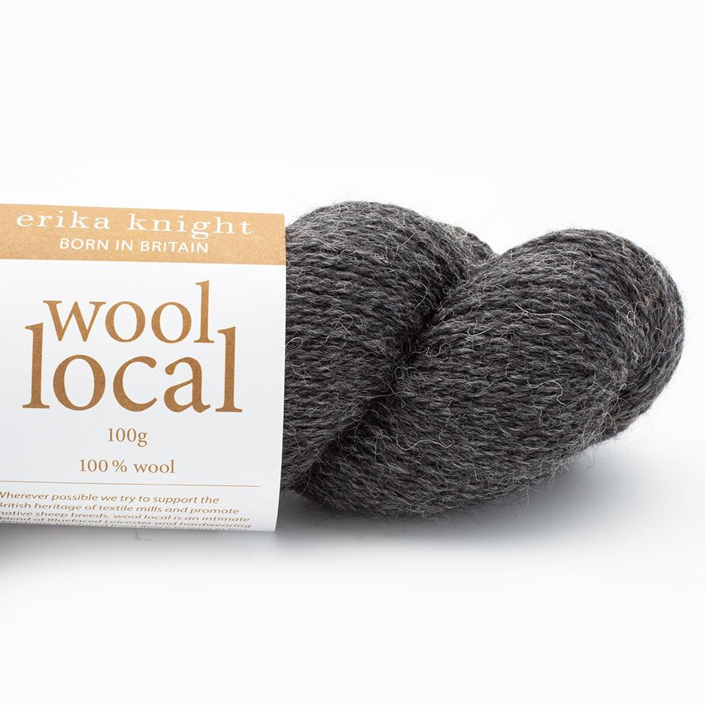 Erika Knight Wool Local (100g) Cathy Dark Grey