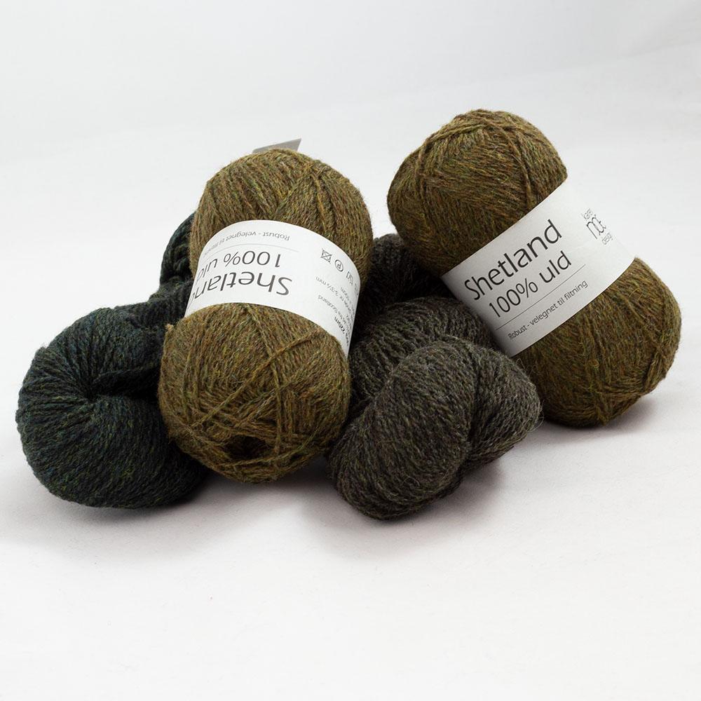 Karen Noe Design Garnpaket Shetlandwolle 200g