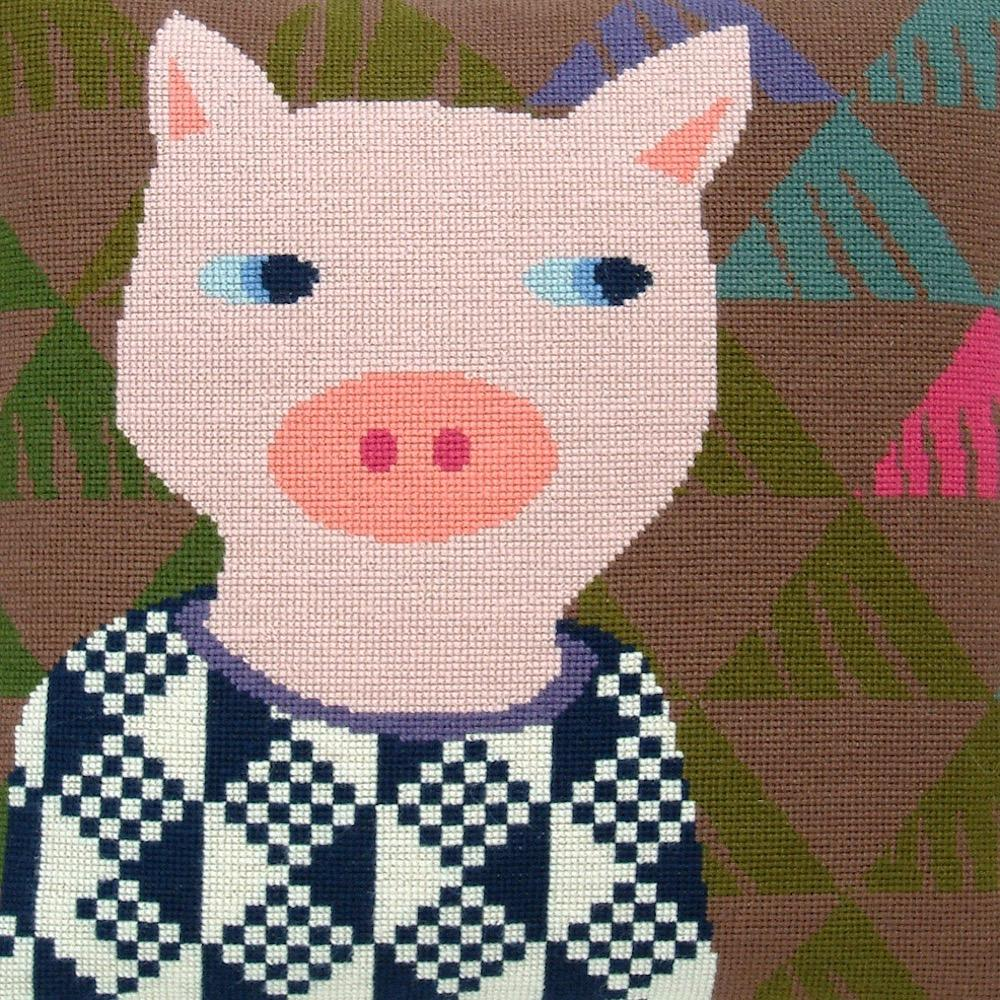 Fru Zippe Schwein Kissen 74 0293  Schwein