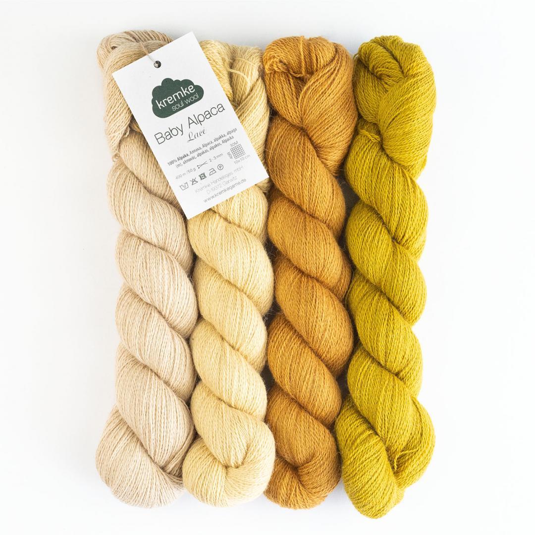 Kremke Soul Wool Babyalpaka Lace  Naturweiß