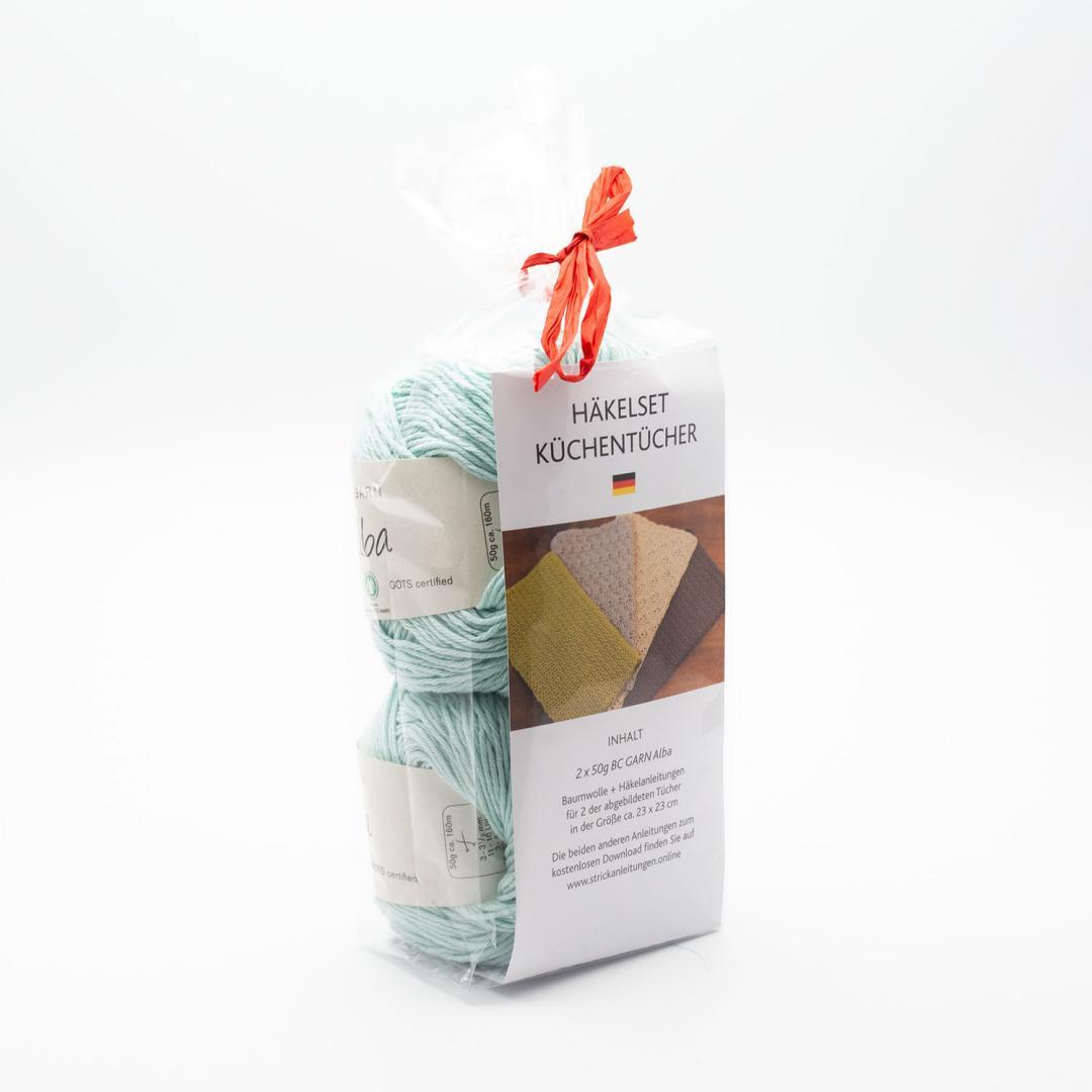 BC Garn Garnpaket Küchentücher 100g Babyblau