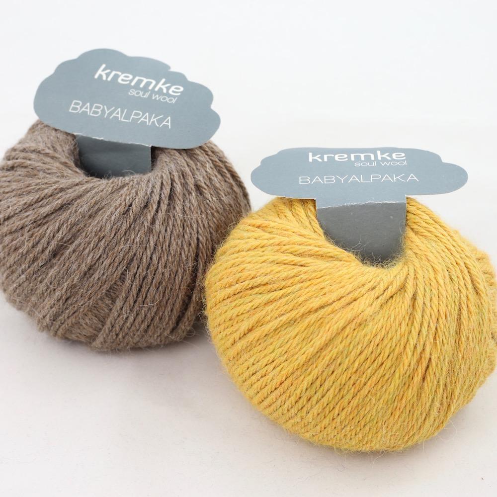 Kremke Soul Wool Babyalpaka Kit Loop Sommergetreide