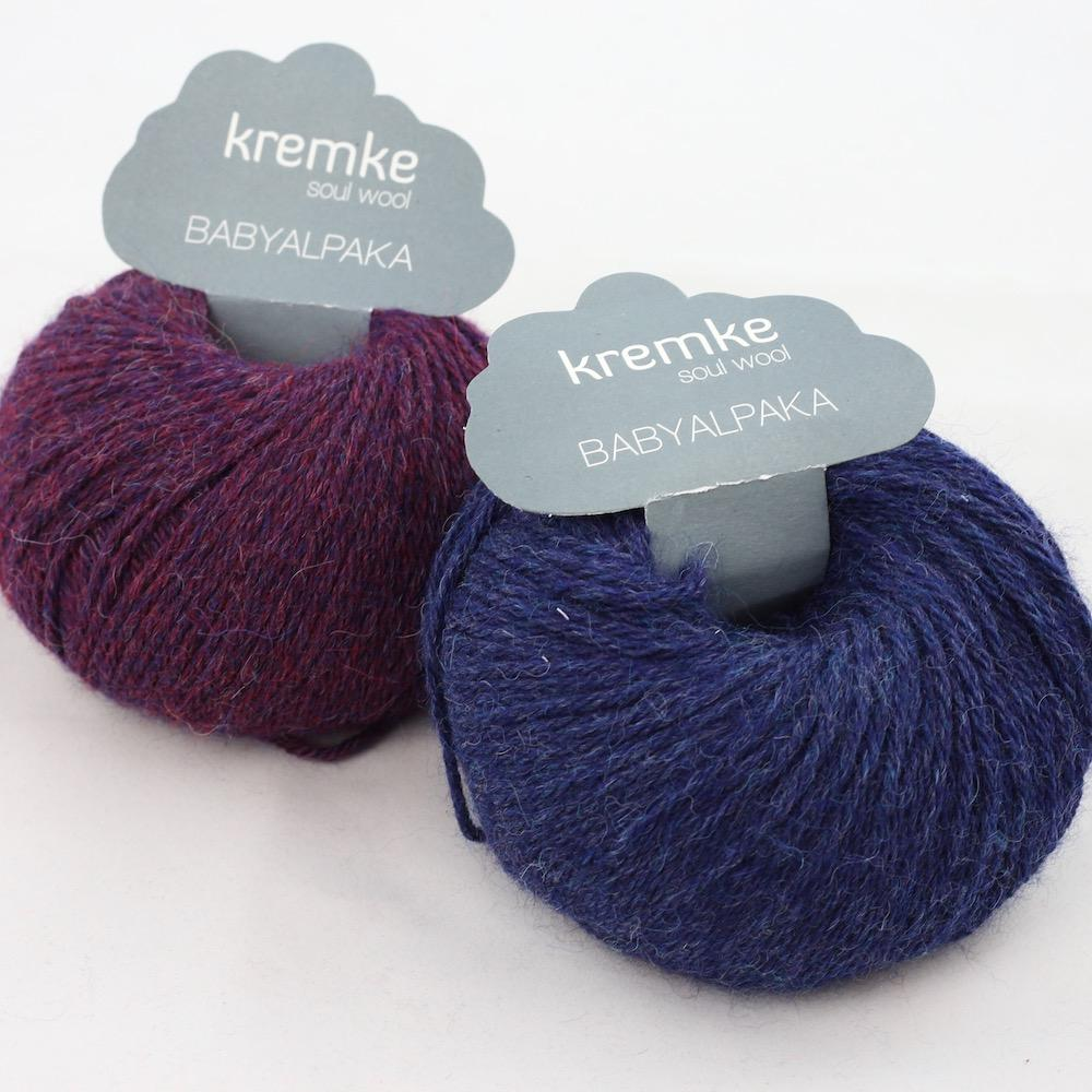 Kremke Soul Wool Babyalpaka Kit Loop  Blueberry