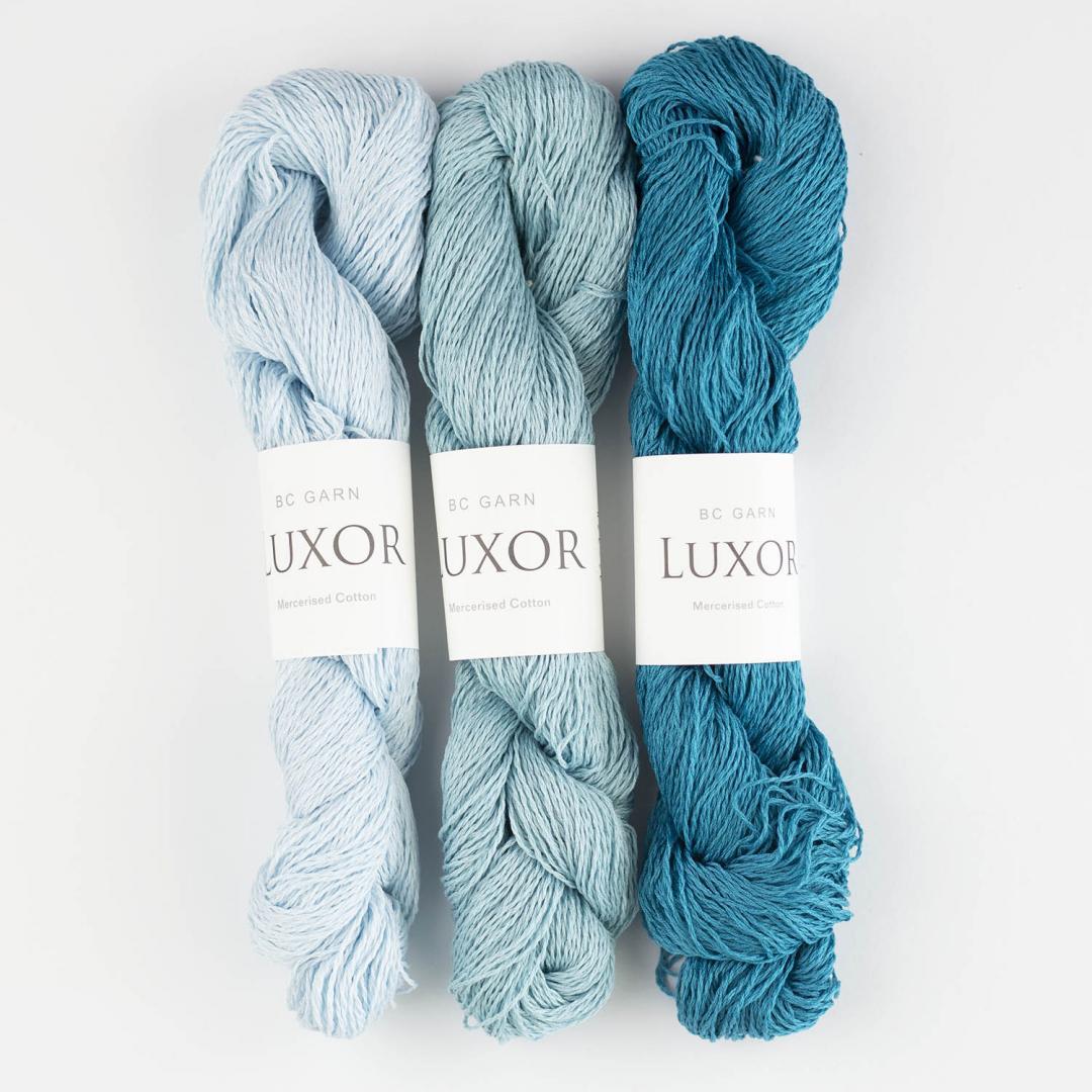 BC Garn Luxor mercerised Cotton  reinweiß