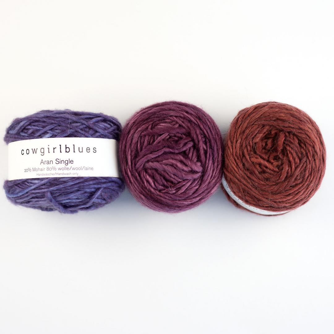 Cowgirl Blues Aran Single solids Auslauffarben