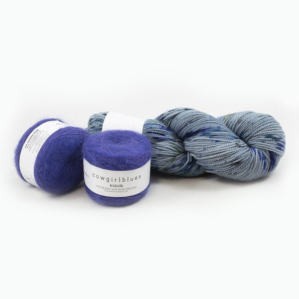 Cowgirl Blues Garnpaket Merino Twist mit Kidsilk 200g