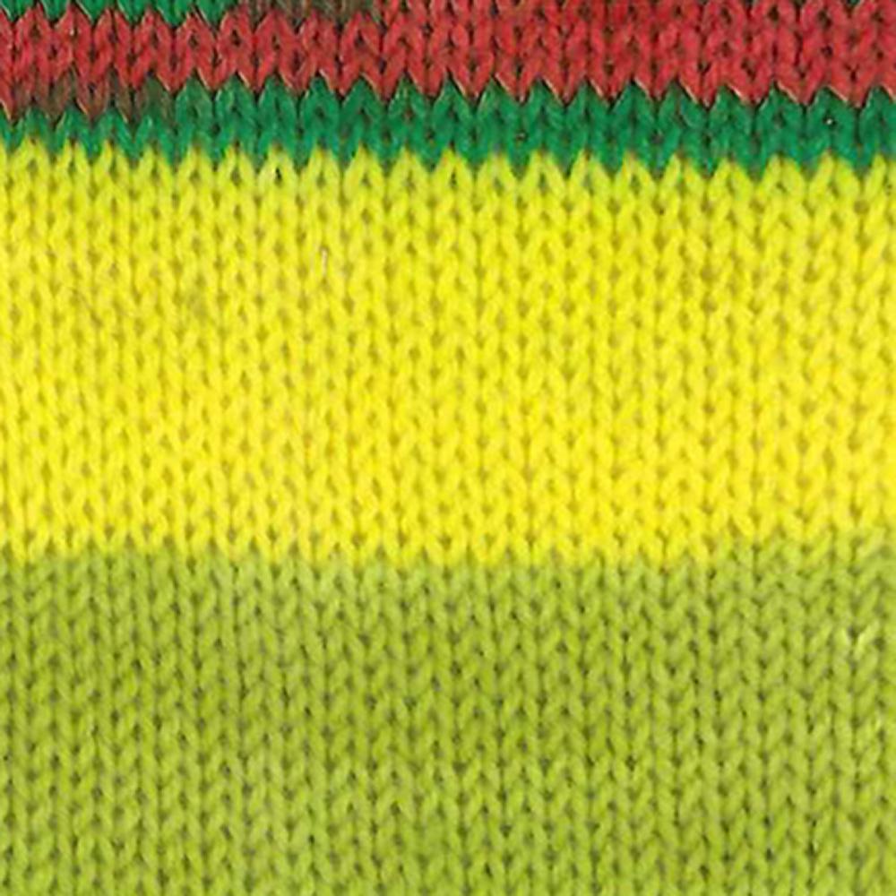 Kremke Soul Wool Edelweiss 6fach 150 Kiwi Rot gestreift