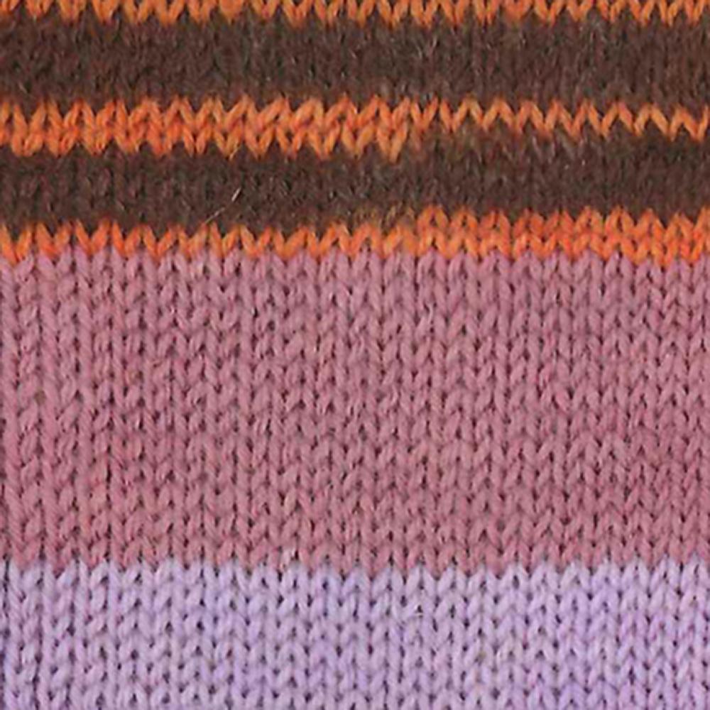 Kremke Soul Wool Edelweiss 6fach 150 Flieder Heide Braun gestreift