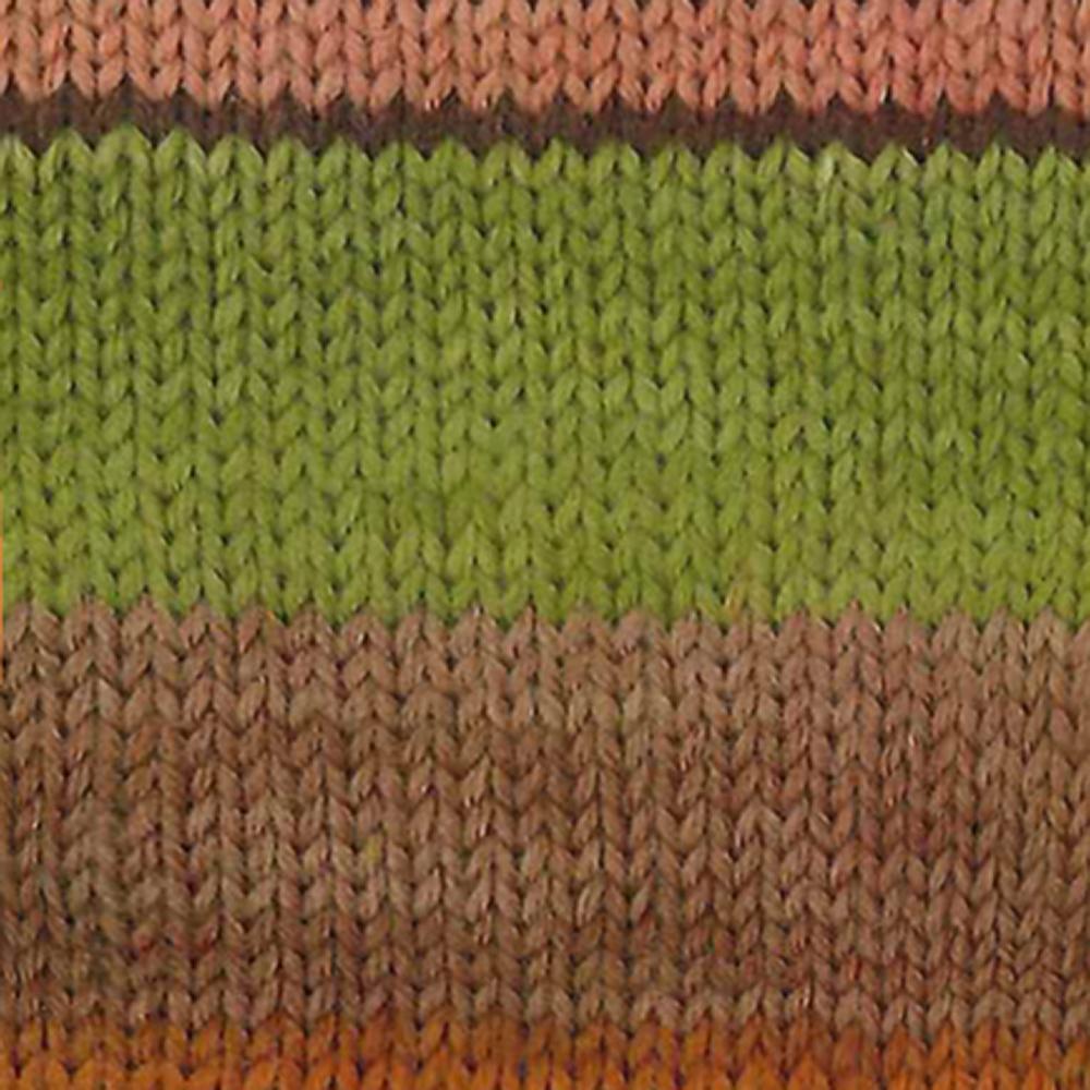 Kremke Soul Wool Edelweiss 6fach 150 Herbst gestreift