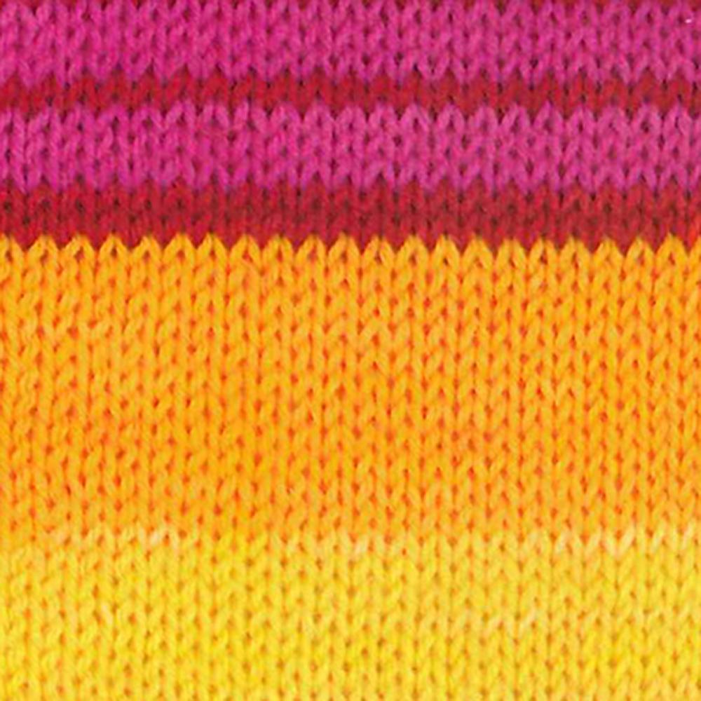 Kremke Soul Wool Edelweiss 6fach 150 Gelb Pink gestreift