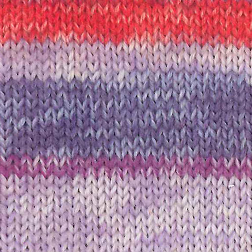 Kremke Soul Wool Edelweiss 6fach 150 Flieder mit Rot