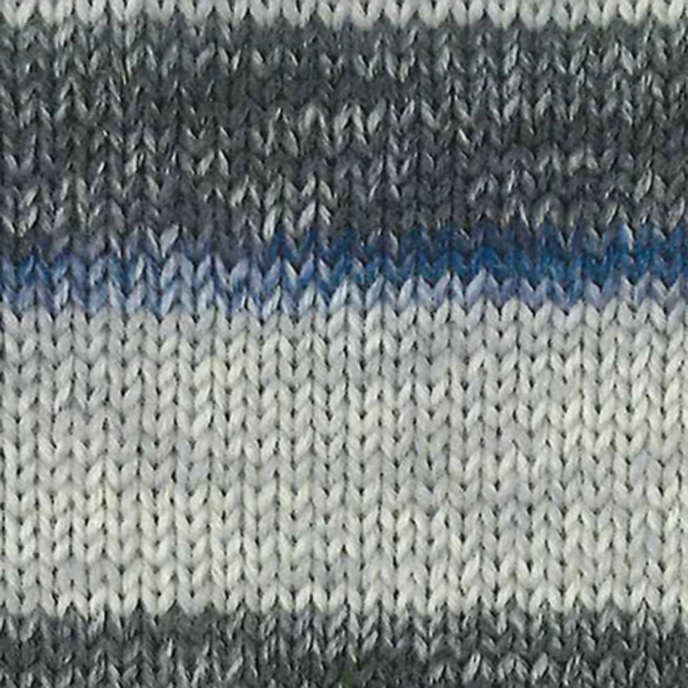 Kremke Soul Wool Edelweiss 6fach 150 Grau mit Navy