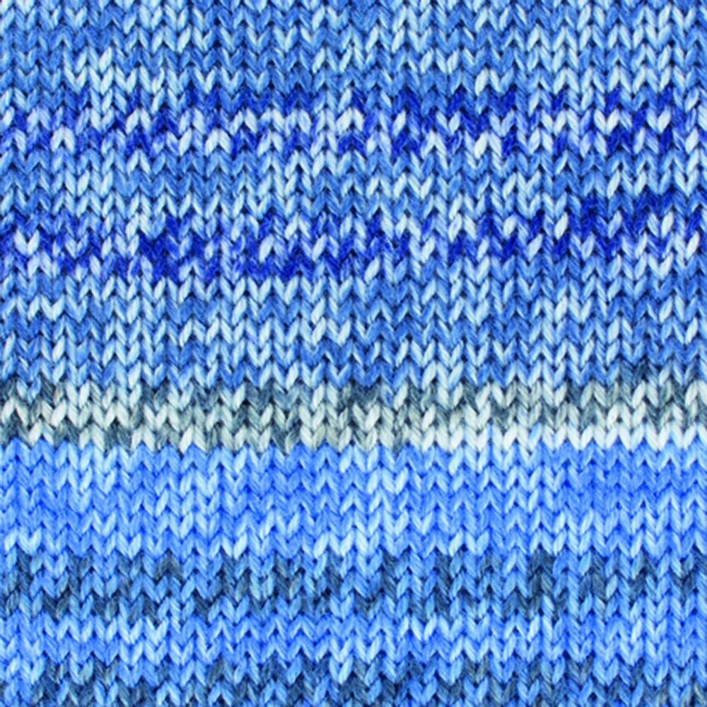 Kremke Soul Wool Edelweiss 4fach Kaschmir 50g Blau bunt