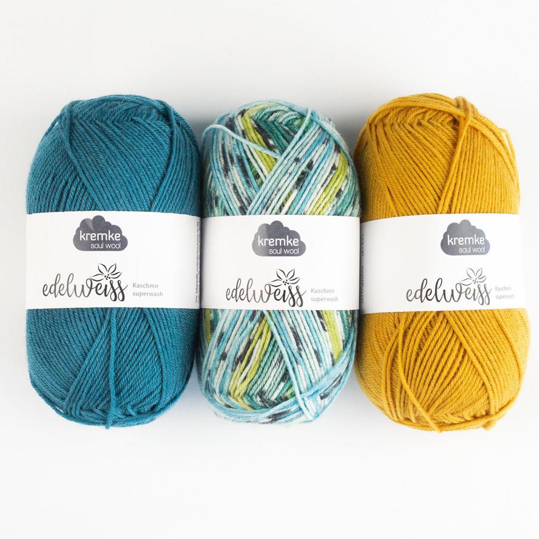 Kremke Soul Wool Edelweiss 4fach Kaschmir 50g
