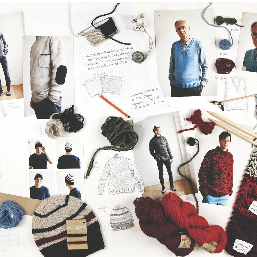 Erika Knight Gedruckte Anleitungsposter ENG Knit for Boys
