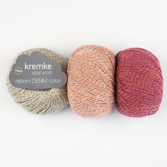 Kremke Soul Wool Reborn Denim Colori