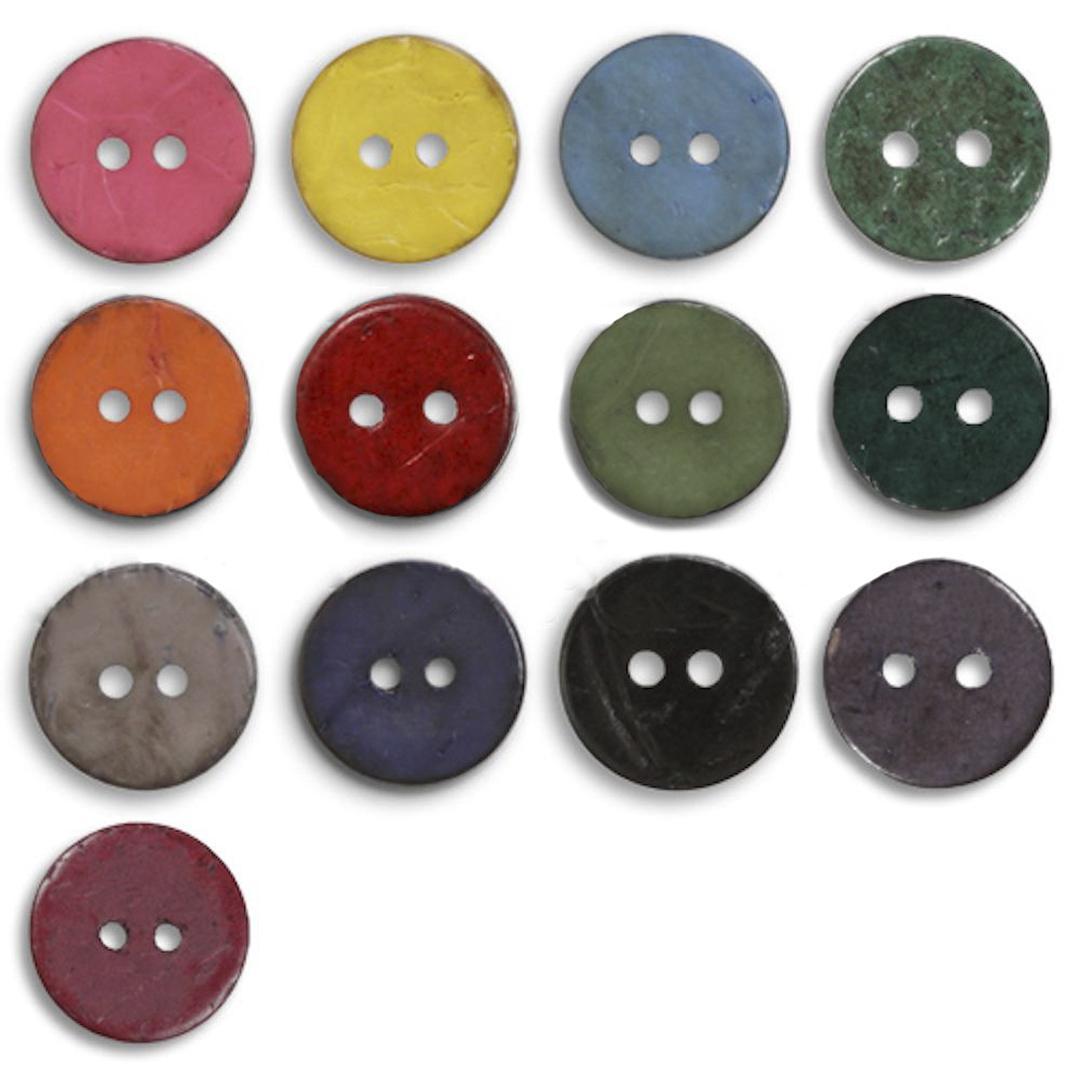 Jim Knopf Cocosknopf flach gefärbt 50mm