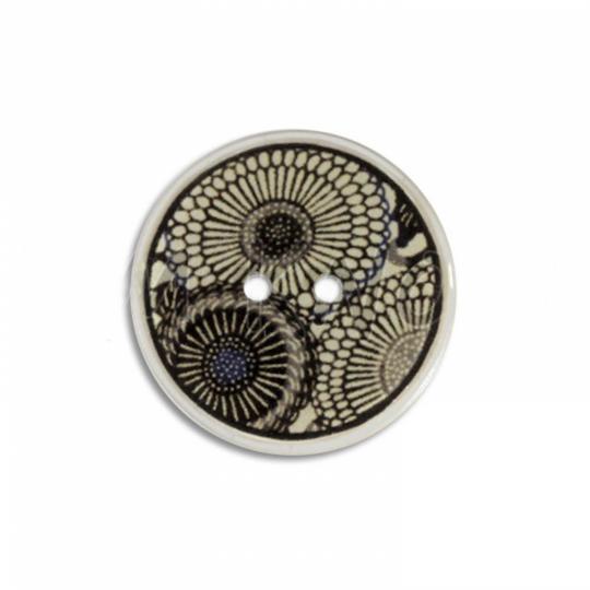 Jim Knopf Cocosknopf Flower Ecru 23mm