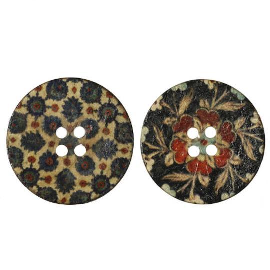 Jim Knopf Cocosknopf bedruckt Blume verschiedene Größen