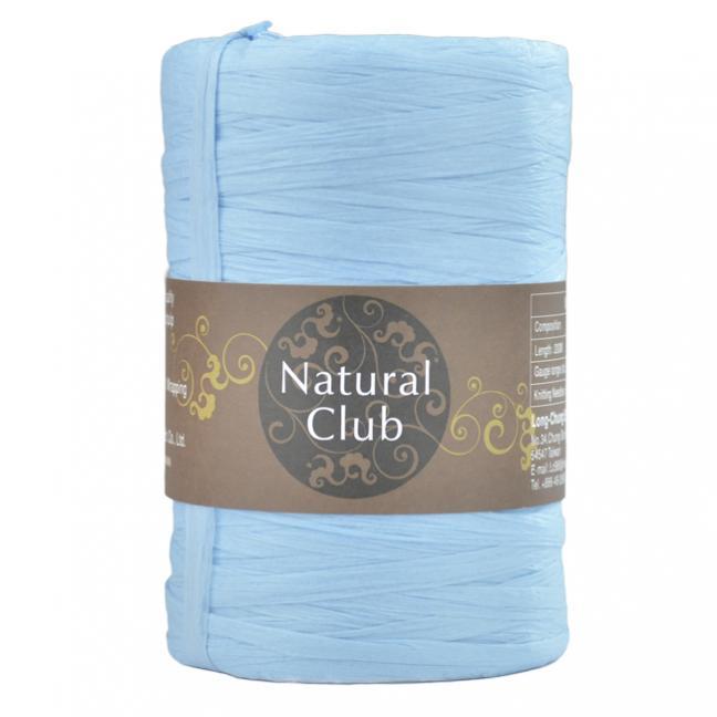 Kremke Naturbast aus Papier/Holzfaser hellblau