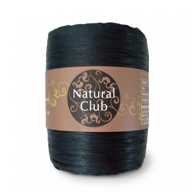Kremke Naturbast aus Papier/Holzfaser schwarz