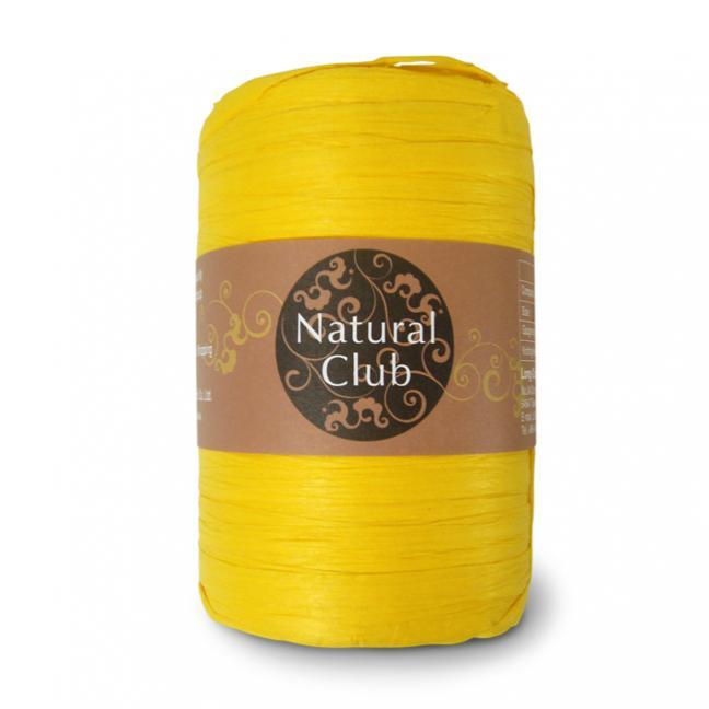 Kremke Naturbast aus Papier/Holzfaser  sonnengelb