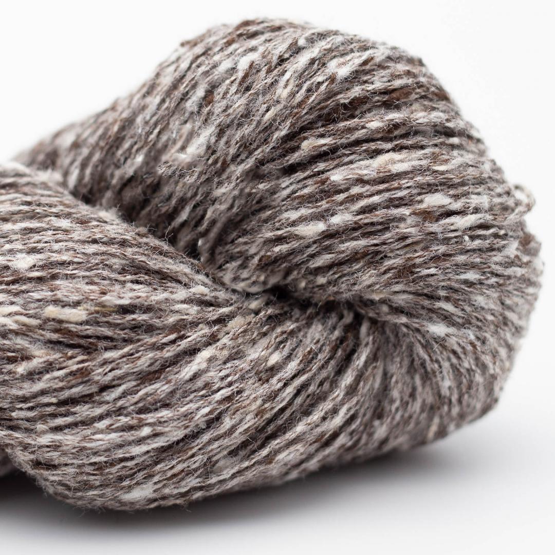 BC Garn Tussah Tweed grey-turkis-mix
