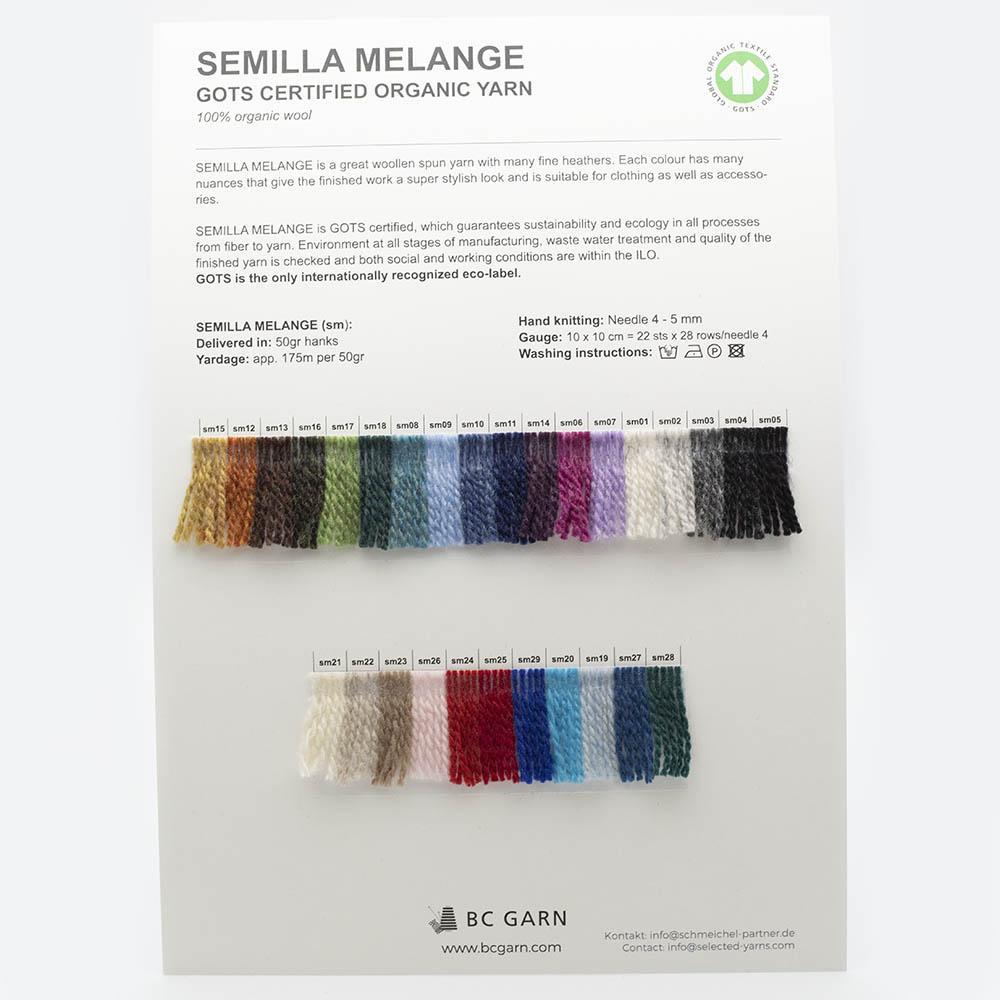 BC Garn Farbkarten von BC Garn Semilla Melange