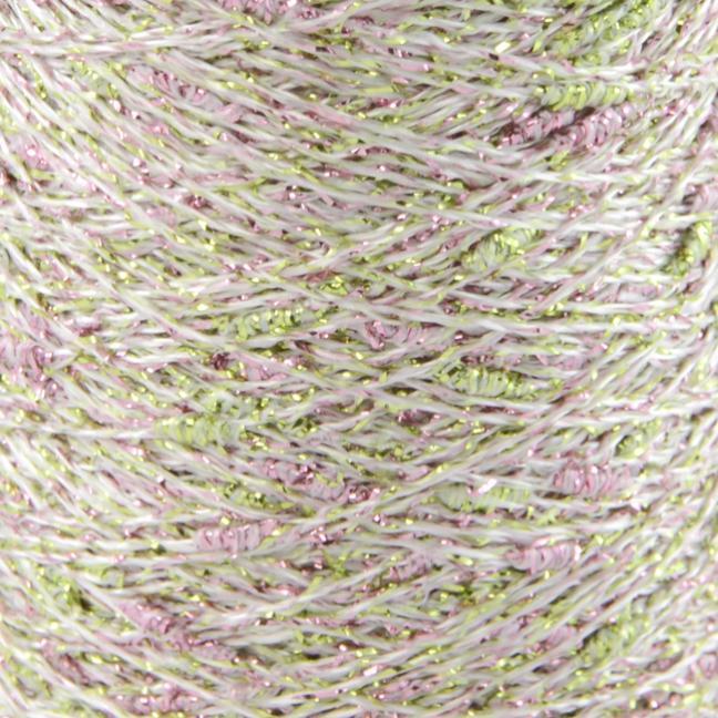Karen Noe Design Stardust Lurexgarn green-rose-gold