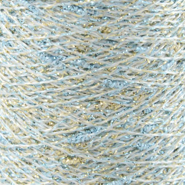 Karen Noe Design Stardust Lurexgarn turquoise-gold-silver