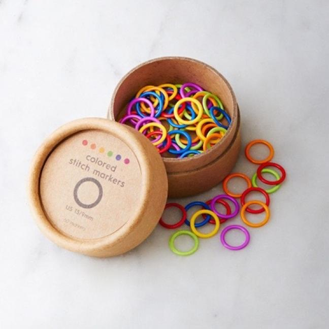 CocoKnits Colored Ring Stitch Marker  Small